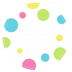 """Guest Name Sticker - Polka Dot 3"""", 24pcs"""