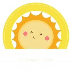 "Guest Name Sticker - Yellow Sunshine 3"", 24pcs"
