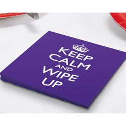 Keep Calm and Wipe Up Napkin 33 x 33 cm, 20 pcs