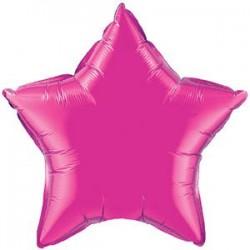"19"" Star Magenta Foil Balloon"