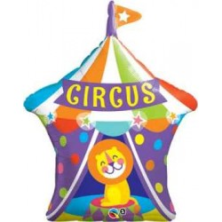 "Big Top Circus Lion Shape Foil Balloon - 36""H"