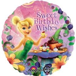 "Tinkerbell Sweet Birthday 18"" Foil Balloon"