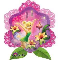"Tinkerbell Flower Shape Foil Balloon - 25""W x 27""H"