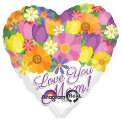 "Love You Mom 28"" Foil Balloon"