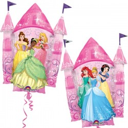 "Disney Princess Castle Foil Balloon (2-sided) - 26""W x 35""H"