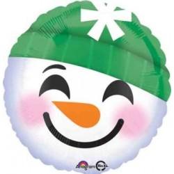 "Emoji Snowman 18"" Foil Balloon"