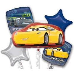 Cars 3 Cruz Foil Balloon Bouquet of 5 (with weight)