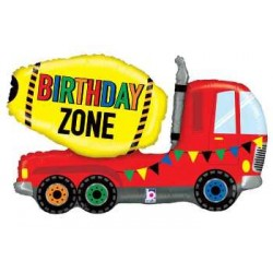 "Birthday Zone Truck Shape Foil Balloon - 30"" W"
