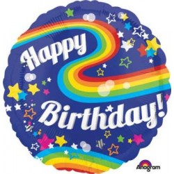 "Birthday Rainbow Colorful 28"" Foil Balloon"