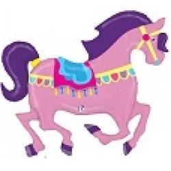 "Carousel Horse Shape Foil Balloon - 48"" W"