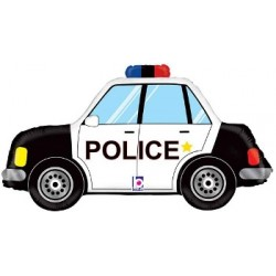 "Police Car Foil Balloon - 34"" W"