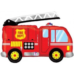 "Fire Truck Foil Balloon - 40""W"