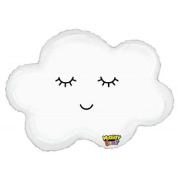 "Mighty Sleepy Cloud Shape Foil Balloon - 30"" W"