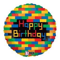 "Birthday Blocks 18"" Foil Balloon"