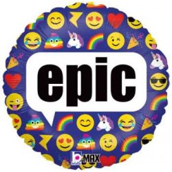 "Emoji ""epic"" 18"" Foil Balloon"