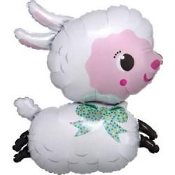 """Lamby Shape Foil Balloon - 25"""" W x 28"""" H"""