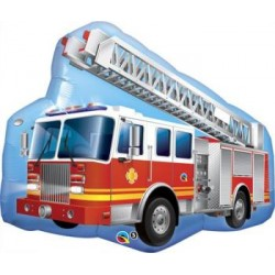 "Big Fire Truck Shape Foil Balloon - 36""W"
