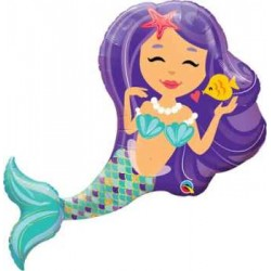 "Mermaid Enchanting Foil Balloon - 38""W"