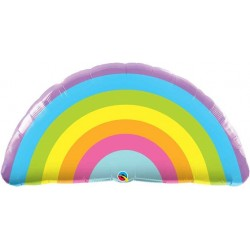 "Radiant Rainbow Shape Foil Balloon - 36"" W"
