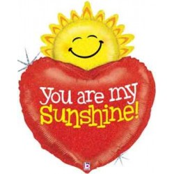 "You Are My Sunshine Shape Foil Balloon - 33""H"