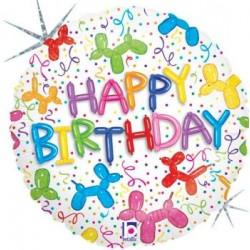 """Balloon Dog Birthday 18"""" Foil Balloon"""