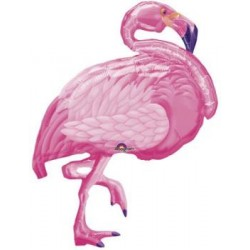 "Flamingo Shape Foil Balloon - 27""W x 35""H"