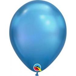 """11"""" Round Chrome Blue Latex Balloon"""
