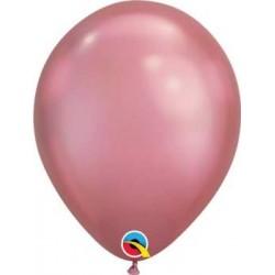 "11"" Round Chrome Mauve Latex Balloon"