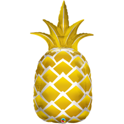 """Pineapple Golden Shape Foil Balloon - 44""""H"""