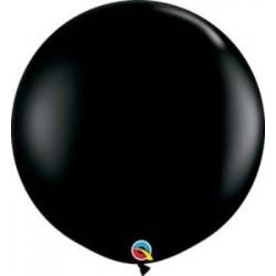 "36"" Round Onyx Black Latex Balloon (with helium)"