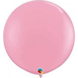 "36"" Round Pink Latex Balloon (with helium)"