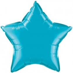 "19"" Star Turquoise Foil Balloon"