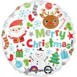 "Christmas Icons 18"" Foil Balloon"