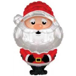 """Christmas Santa Shape Foil Balloon - 36""""H"""