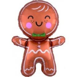 "Gingerbread Man Foil Balloon - 31""H"