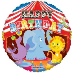 "Birthday Circus 18"" Foil Balloon"