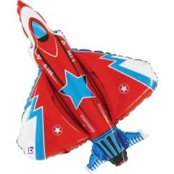 "Fighter Jet Shape Foil Balloon - 38""H"