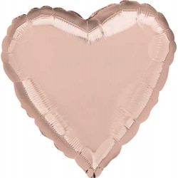 "18"" Heart Metallic Rose Gold Foil Balloon"