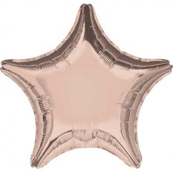 "19"" Star Metallic Rose Gold Foil Balloon"