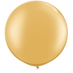 """30"""" Round Gold Latex Balloon (with helium)"""