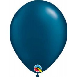"""11"""" Round Pearl Midnight Blue Latex Balloon (with helium)"""