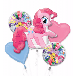 My Little Pony Pinkie Pie Balloon Bouquet of 5 (with weight)