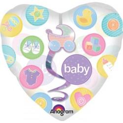"New Baby Insiders Dangler 32"" Clear Balloon"