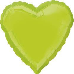 "18"" Heart Kiwi Green Foil Balloon"