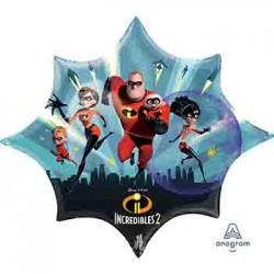 """Incredibles 2 Burst Foil Balloon - 35""""W"""