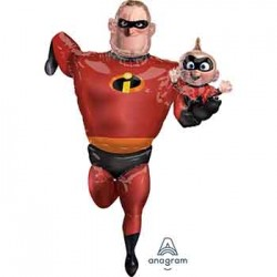 "Incredibles Mr Incredible Airwalker Foil Balloon - 35"" W x 67"" H"