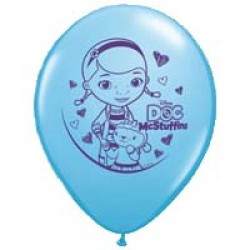 """Doc Mcstuffins 11"""" Round Blue Latex Balloon (with helium)"""