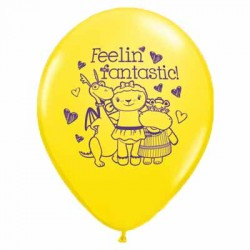 """Doc Mcstuffins 11"""" Round Yellow Latex Balloon (with helium)"""