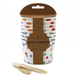Toot Sweet Ice Cream/Candy Paper Cup, 8 pcs in 2 styles