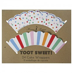 Toot Sweet Cupcake Wrapper, 24 pcs in 2 styles